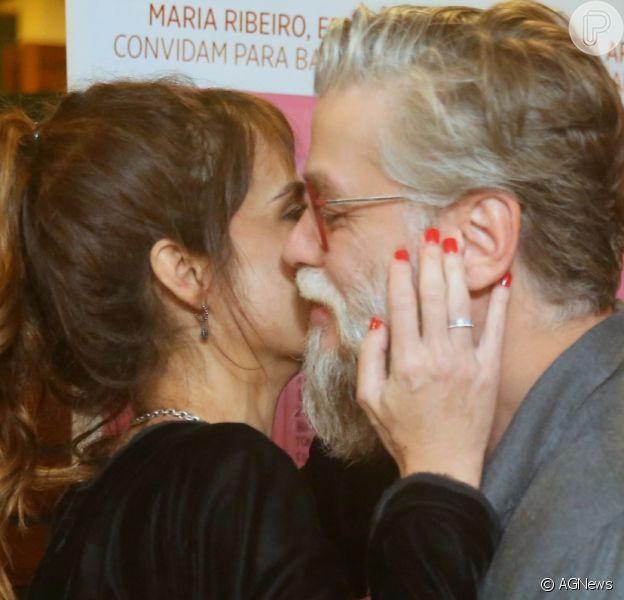 Maria Ribeiro parabenizou o namorado, Fabio Assunção, pelo aniversário nesta sexta-feira, 10 de agosto de 2018