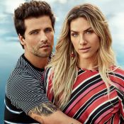Bruno Gagliasso e Giovanna Ewbank estrelam campanha com looks florais e navy