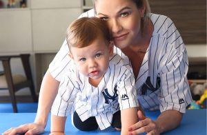 Andressa Suita combina look com filho Gabriel e usa camisa de time de baseball