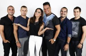 Anitta canta e dança em ensaio para a gravação do DVD do grupo Sorriso Maroto