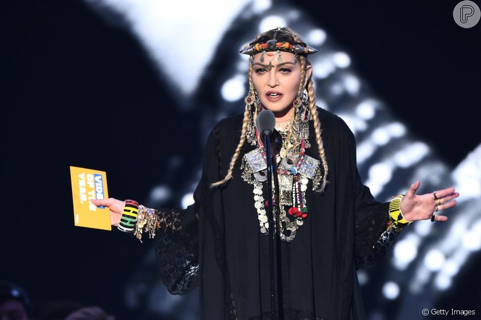 Madonna  fez um tributo à   Aretha Franklin  no   Video Music Awards, realizado em Nova York, nos Estados Unidos, nesta segunda-feira, 20 de agosto de 2018