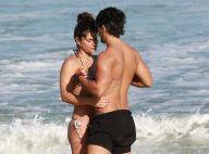 Priscila Fantin troca carinhos com namorado em dia de praia no Rio. Fotos!