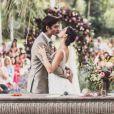 Isis Valverde e André Resende se casaram este ano, após a atriz descobrir que estava grávida