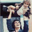 Roberto Carlos em momento descontraído em foto antiga com o filho Dudu Braga