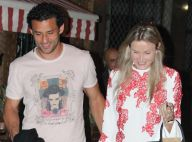 Fred janta com a namorada, Paula Armani, em restaurante no Leblon, no Rio