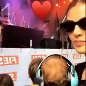 Monica Benini leva filho para assistir show do pai, Junior Lima: '1º do Otto'