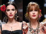 Bruna Marquezine e Marina Ruy Barbosa desfilam na Semana de Moda de Milão. Fotos