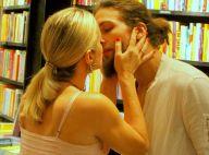 Letícia Spiller troca beijo com o namorado, Pablo Vares, ao lançar livro. Fotos!