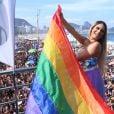 Lexa posa após show na Parada LGBT no Rio