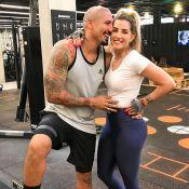 Fernando Medeiros explica foto com a mulher, Aline Gotschalg: 'Não está grávida'
