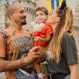 Aline Gostchalg e Fernando Medeiros são pais de Lucca, de 2 anos