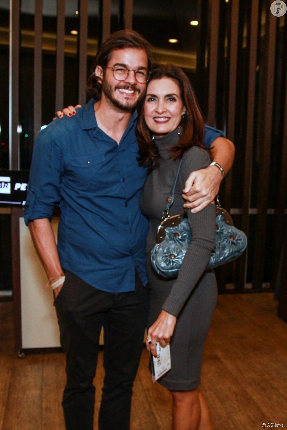 Fátima Bernardes comenta mudança de visual do namorado, Túlio Gadêlha, em 6 de outubro de 2018