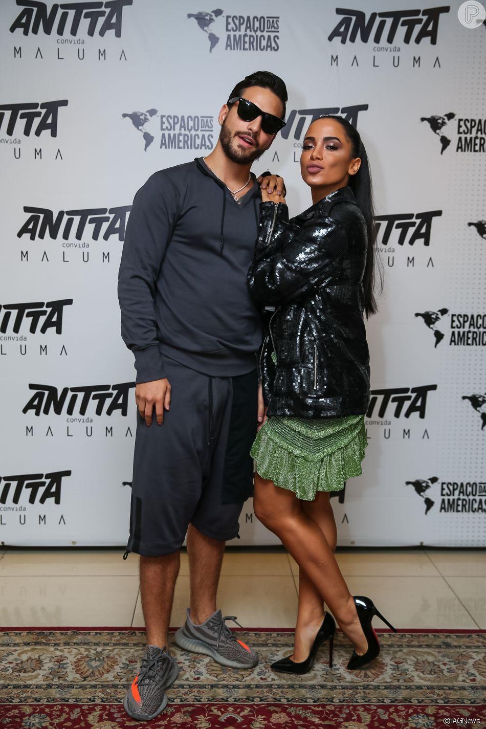 Maluma posa com a noiva e seguidores a comparam à Anitta, em 10 de outubro de 2018