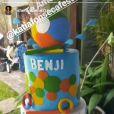 Sheron Menezzes mostrou a festa de aniversário do filho, Benjamin