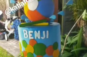 Filho de Sheron Menezzes faz 1 ano e atriz promove 'baby pool party'. Veja vídeo