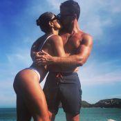 Juliana Paes parabeniza marido em aniversário com foto de beijo: 'Amo você!'
