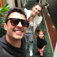 Wellington Muniz e Mirella Santos são pais de Valentina, de 4 anos