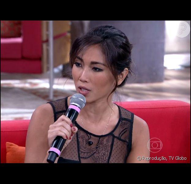 Daniele Suzuki foi uma das convidadas do programa 'Encontro com Fátima Bernardes' desta segunda-feira, 25 de agosto de 2014