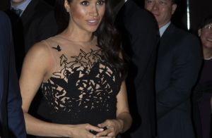 Estilo princesa: Meghan Markle usa look de tule com pássaros bordados em jantar
