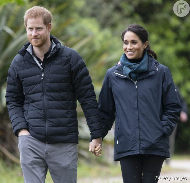 Príncipe Harry revela como chama o bebê que Meghan Markle espera durante visita à Nova Zelândia, em 29 de outubro de 2018