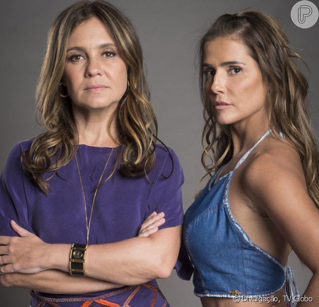 Em 'Segundo Sol', Laureta (Adriana Esteves) e Karola (Deborah Secco) enterram Dulce (Renata Sorrah) em uma cova no quintal