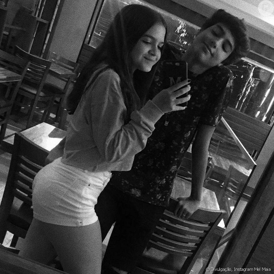 Mel Maia se declarou para o namorado, Erick Andreas, neste sábado, 3 de novembro de 2018: 'Meu bebê'