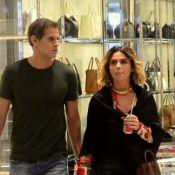 Giovanna Antonelli e marido, Leonardo Nogueira, fazem compras em shopping do RJ