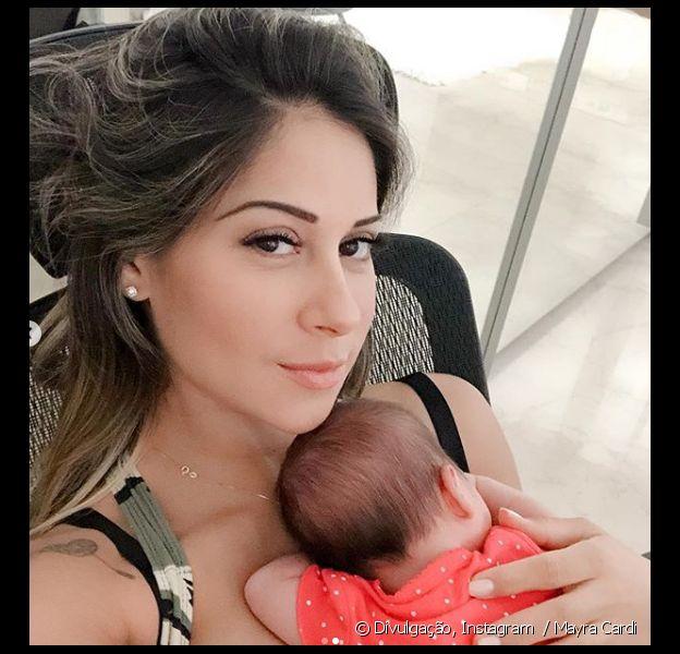 Mayra Cardi responde críticas por colocar música perto da filha, Sophia, em 5 de novembro d 2018