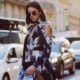 Bruna Marquezine desfilou com o vestido Off-White pela Semana de Moda de Paris em setembro
