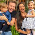 Melinda e Teodoro, filhos de Thais Fersoza, derretem corações de internautas nas redes sociais