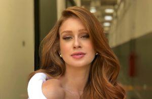Marina Ruy Barbosa posa de lingerie com transparência e web vibra: 'Que corpo!'