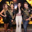 Rudimila Borges, Juliana Paes, Dil Melo e David Brazil no lançamento do camarote Club Arpoador 2019