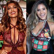 Ju Paes justifica ausência de foto com Mileide: 'Ela no barracão, eu na Sapucaí'