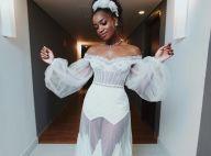 Noiva em festa! Segundo vestido de Iza tem transparência no limite. Veja look!