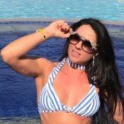 Antes e depois! Graciele Lacerda exibe mudanças no corpo: 'Hoje é melhor fase'