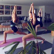 Grazi Massafera pratica yoga com sobrinhas e semelhança impressiona: 'Reflexo'