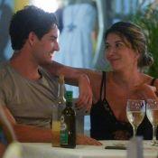 Namorando, Rebeca Abravanel e Alexandre Pato curtem jantar romântico na Bahia