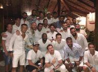 Neymar ironiza críticas e aparece em foto cercado de 26 homens. Entenda!