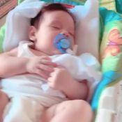 Momento fofura! Thyane Dantas mostra o filho, Dom, dormindo: 'Aquela soneca'