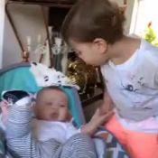 Fofura! Andressa Suita filma Gabriel beijando o irmão, Samuel: 'Amor está no ar'