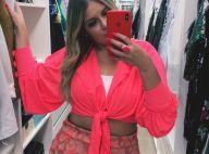 Rosa neon! Marília Mendonça usa look fluo com barriga de fora: 'Vim colorir'