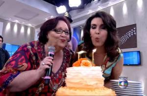 Fátima Bernardes ganha bolo de aniversário no 'Encontro': 'Surpresa'