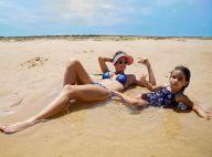 Deborah Secco curte praia da Bahia com a filha: 'Minha pequena sereia'