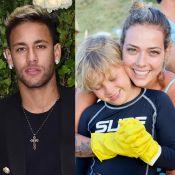 Neymar interage com a ex Carol Dantas em foto do filho: 'Galego corajoso'