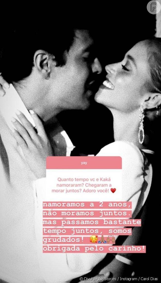 Noiva de Kaká, Carol Dias comenta relação com o jogador