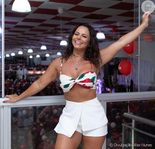 Viviane Araújo comandou a feijoada do Salgueiro neste domingo, 13 de janeiro de 2019