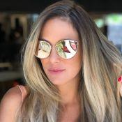 Grávida, Ticiane Pinheiro cuida dos cabelos para o verão: 'Dia de beleza'