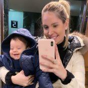 Thyane Dantas posta sequência de fotos com filho, Dom, em viagem: 'Não resisto'
