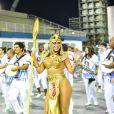 Muito samba no pé! Lívia Andrade encanta público vestida de Cleópatra em ensaio técnico. Imagina no Carnaval?