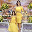 Vera Viel, mulher de Rodrigo Faro, também apostou na combinação para curtir o aniversário da sua caçulinha, Helena, com tema 'A Bela e a Fera'